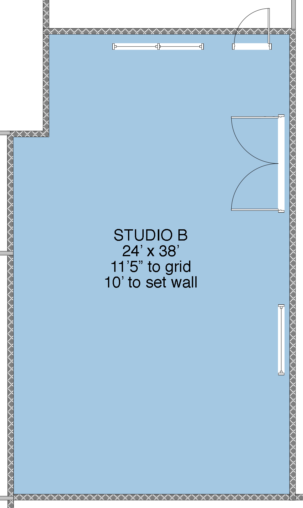 Studio B floor plan