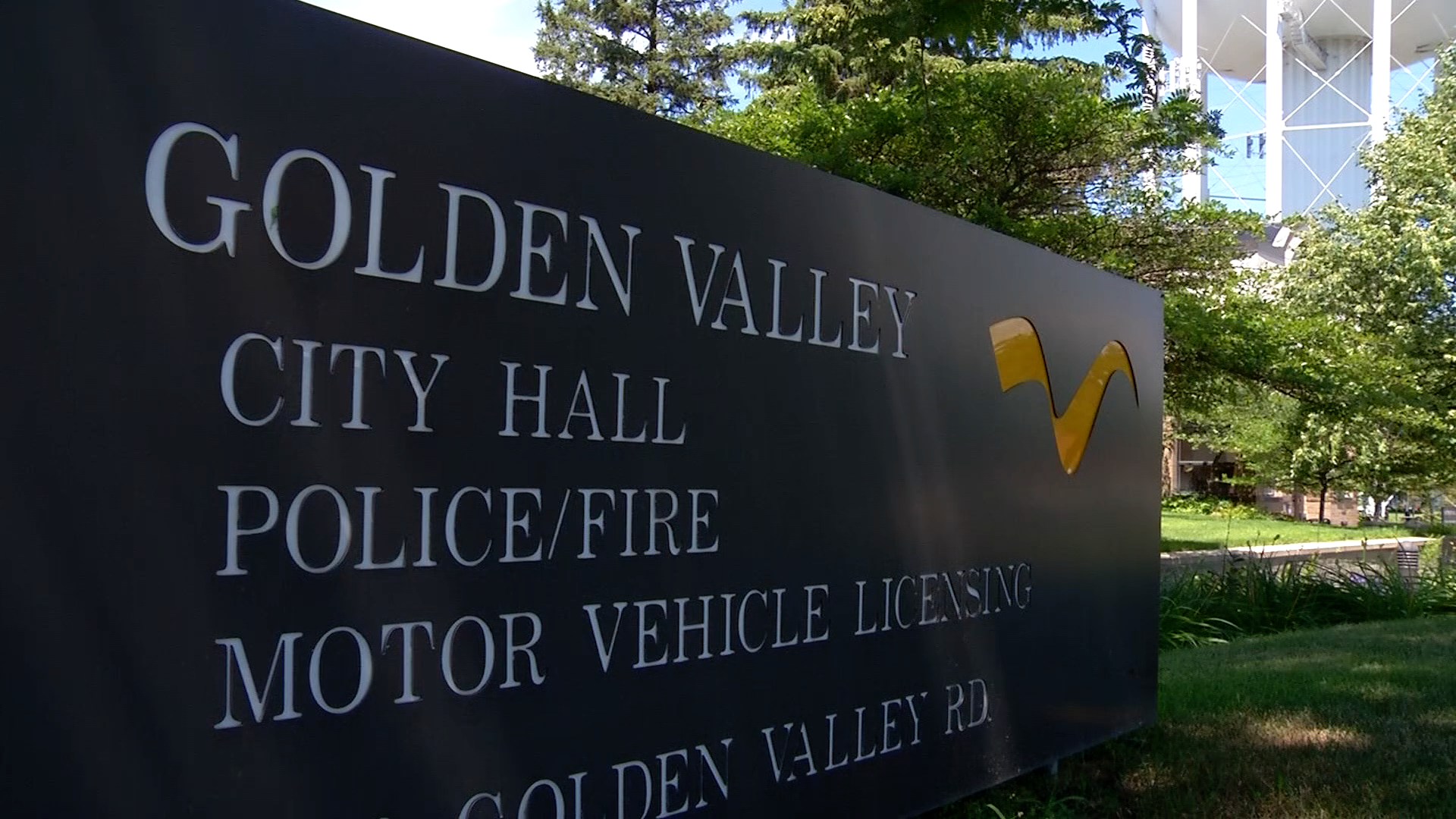Golden Valley City Hall sign
